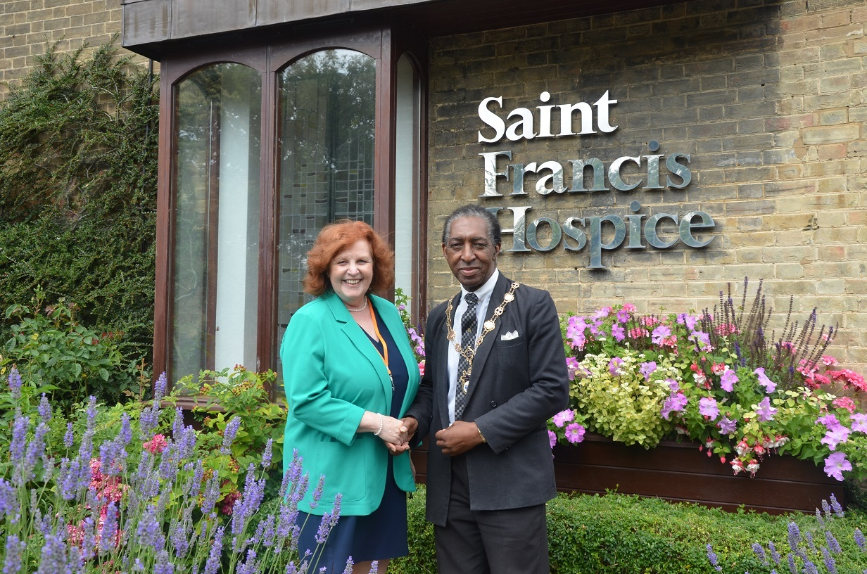 Pam Court and Mayor of Havering Michael Deon Burton - web