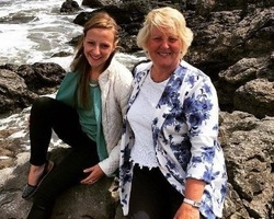 Laura with her mum (cropped)