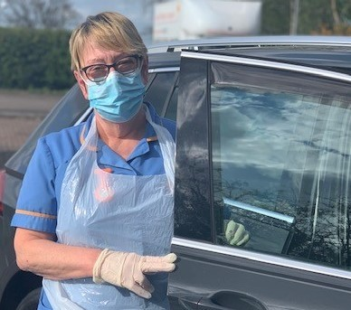 Hospice at Home HCA Julie White wearing PPE - resized