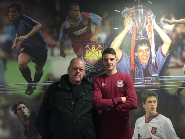 Dennis Lepine and Declan Rice