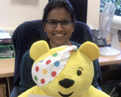 Shahina with Pudsey (cropped)