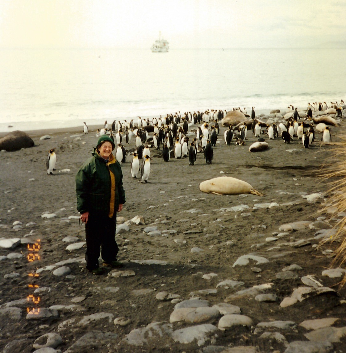Frances Ridgley in Antarctica